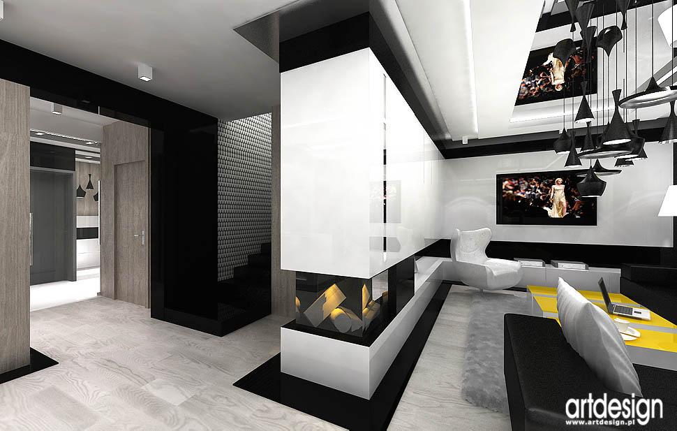 projekty aranżacje wnętrza salon pokój dzienny