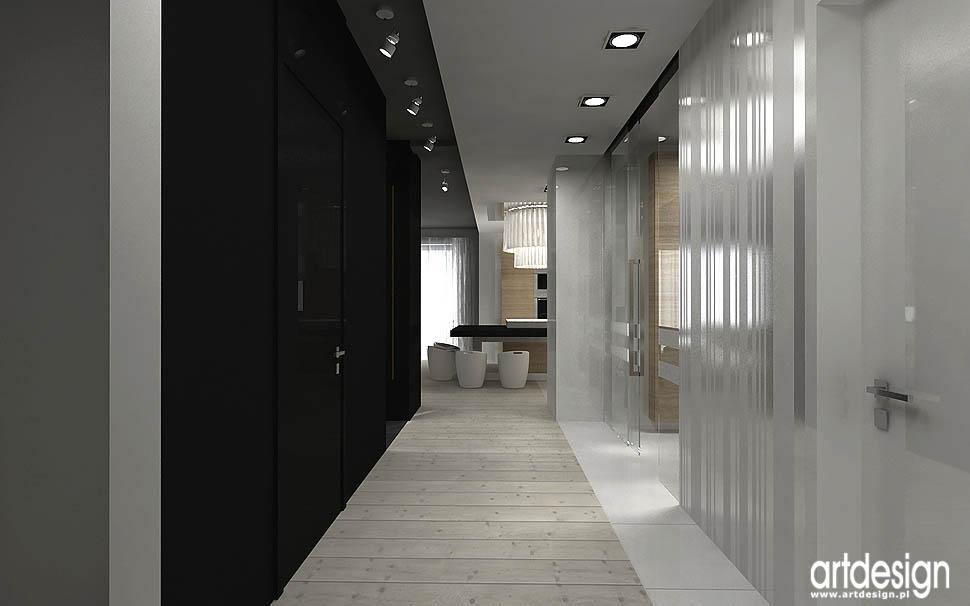 design wnetrz projekty korytarz przedpokój