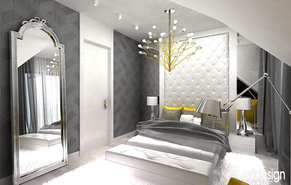 projekty wnętrza design nowoczesna sypialnia