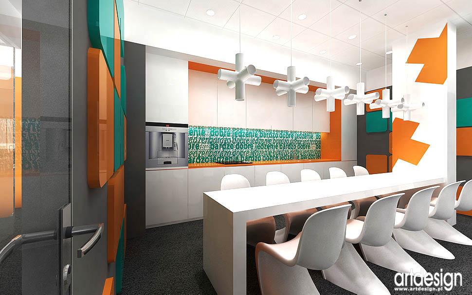 wnętrza socjalne w biurze design aranzacja