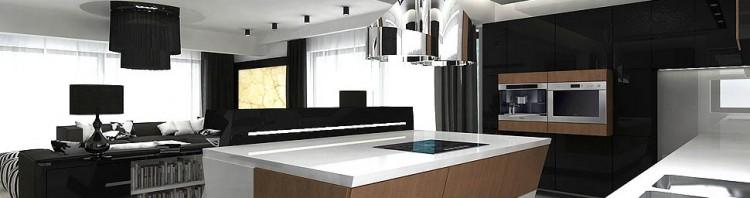 projekt wnetrz kuchnia nowowczesna design
