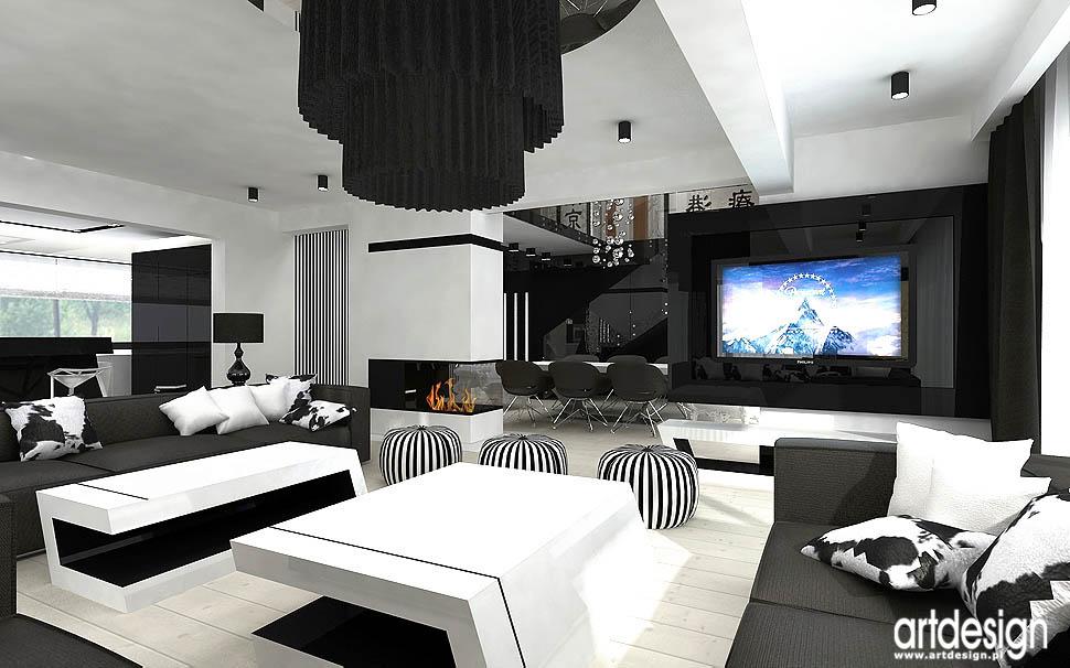 wnetrze nowoczesne apartament salon
