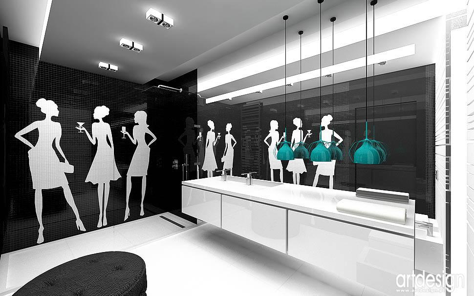 wnętrze łazienki nowoczesny design