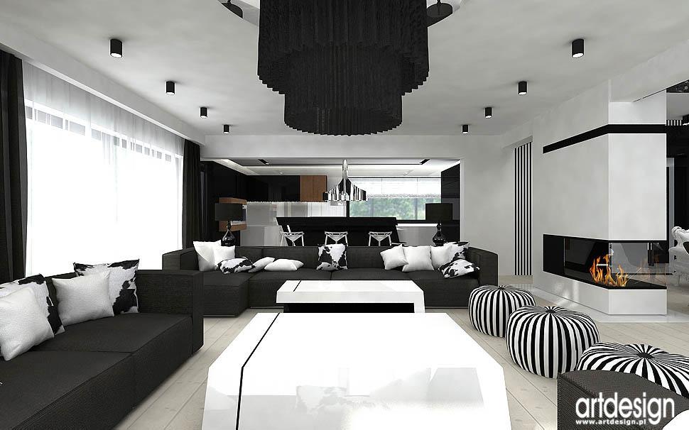 architektura wnętrz apartament salon nowoczesny