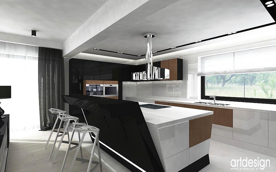 wnętrze kuchni projekt nowoczesny