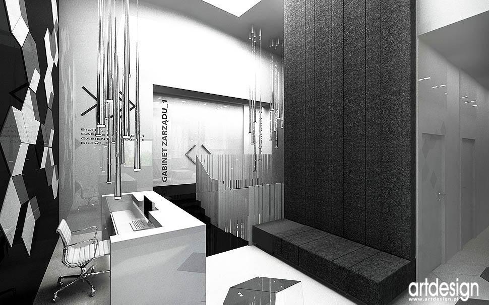 projektowanie wnętrz biurowych biurwca recepcji