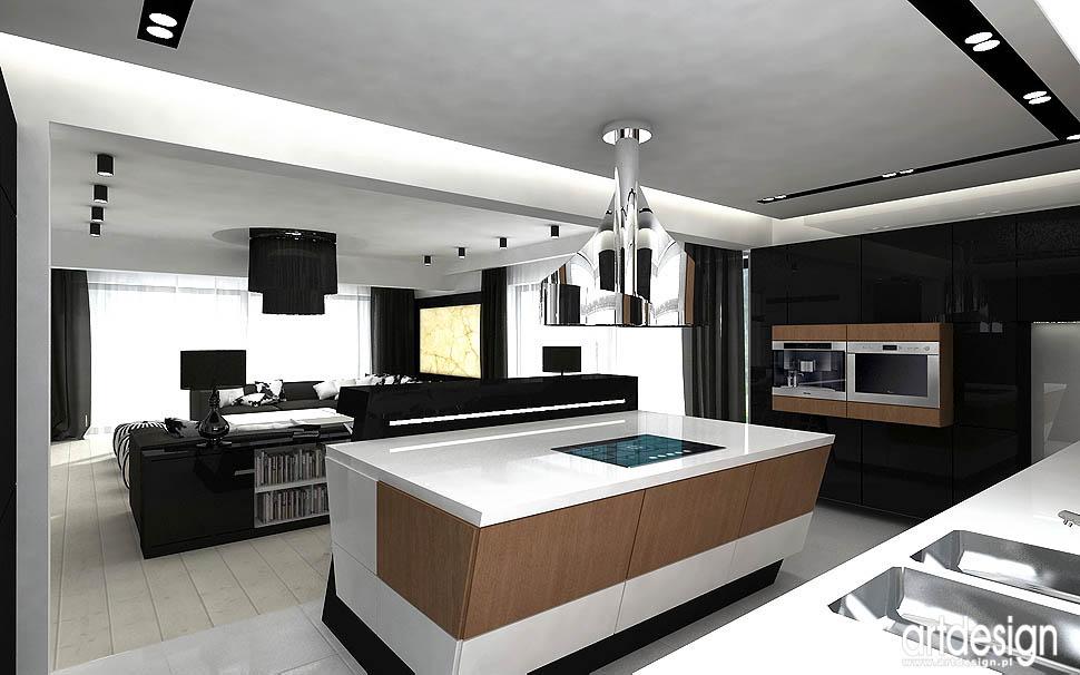 projektowanie wnetrz kuchnia salon designerskie wnętrze