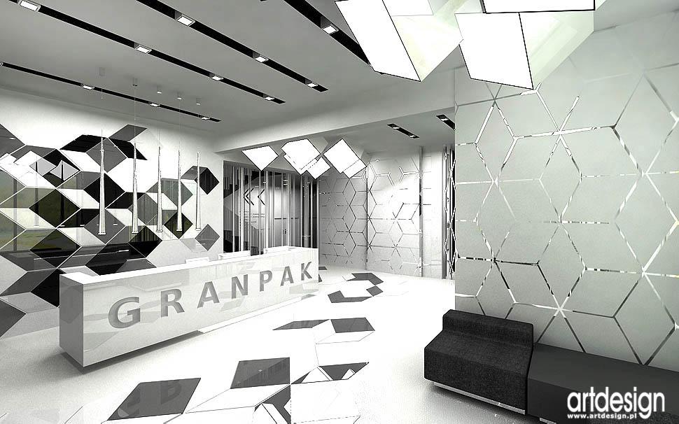 architektura wnetrz biura hol recepcja