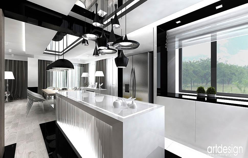 projektowanie wnętrza nowoczesne wyspa kuchenna projekt