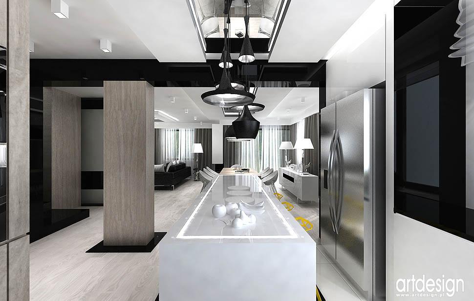 aranżacja wnętrza projekty nowoczesna kuchnia