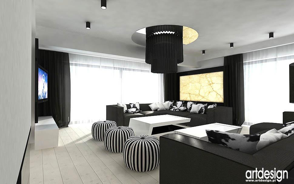 wnetrza luksusowych apartamentów salon pokój dzienny