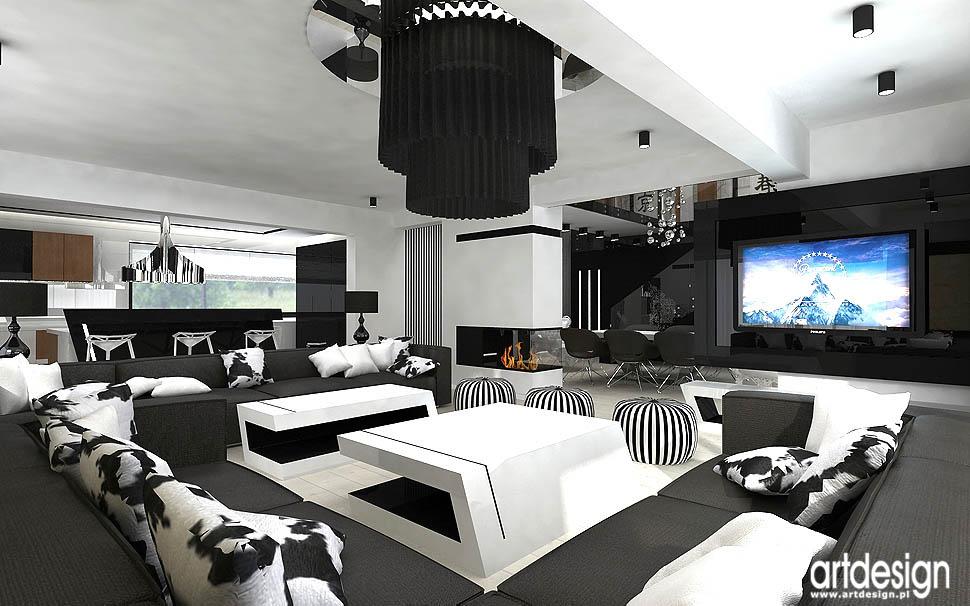 projekt aranżacja salon w apartamencie