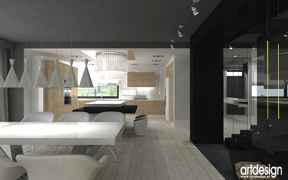 wnętrza design projekty kraków kuchnia z wyspą