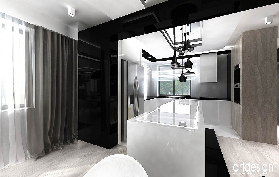 design wnetrza realizacje domu kuchni