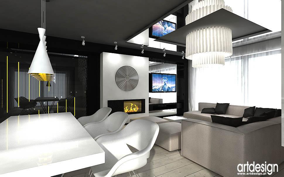 wnetrza domów realizacje projektów salon nowoczesny