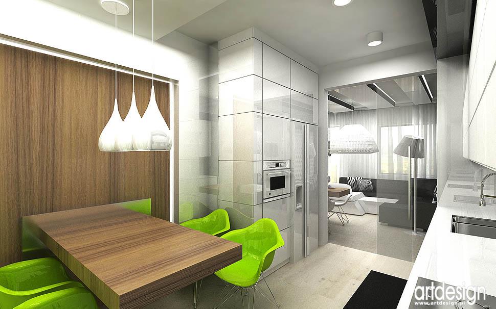 wnetrze designerskie projekty kuchnia mieszkanie
