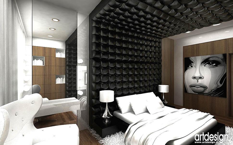 wnetrza projekty sypialnia