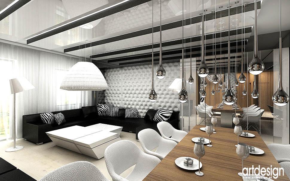 projekty wnetrz salon nowoczesny