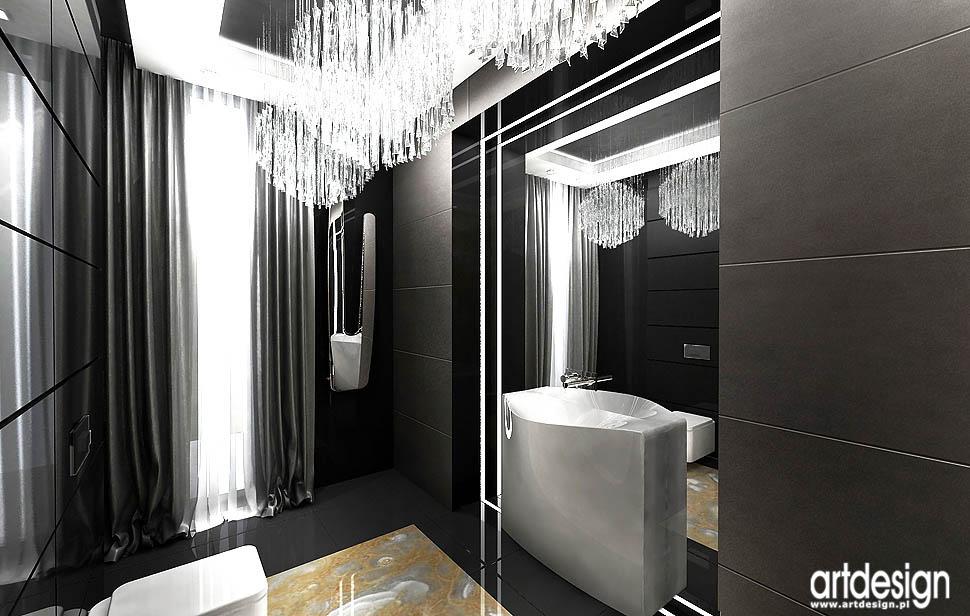 wnetrze luksusowej toalety w rezydencji