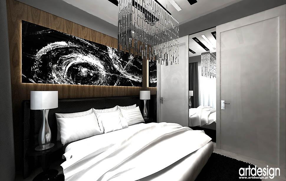 projekty wnetrza design sypialnia