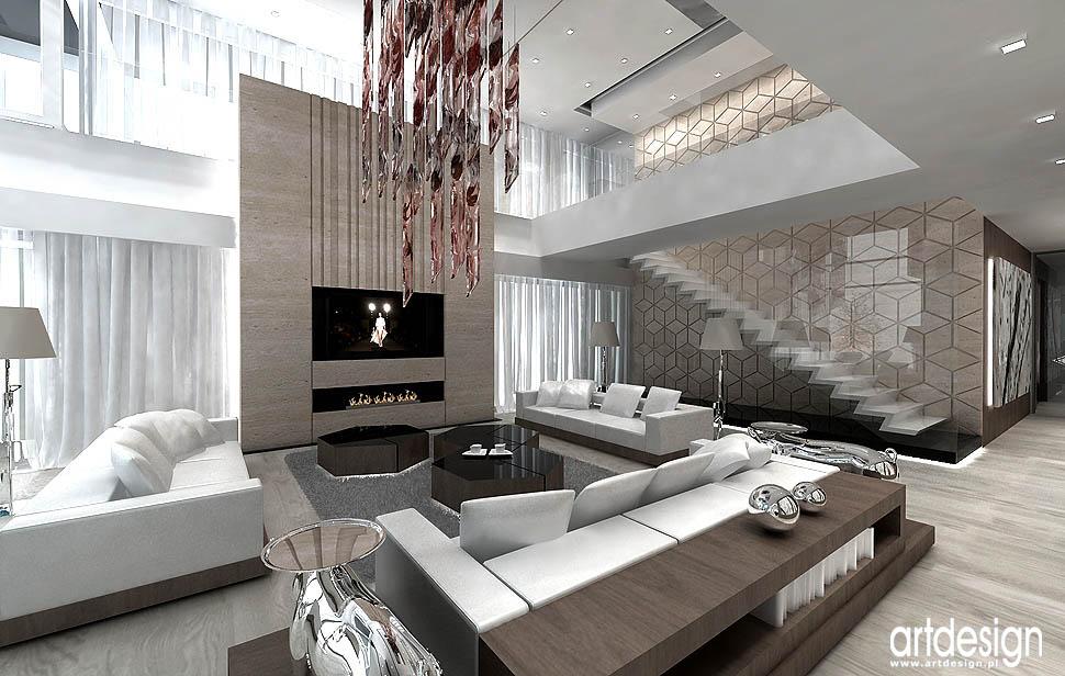 nowoczesne wnetrza styl antresola projekty aranzacje salon