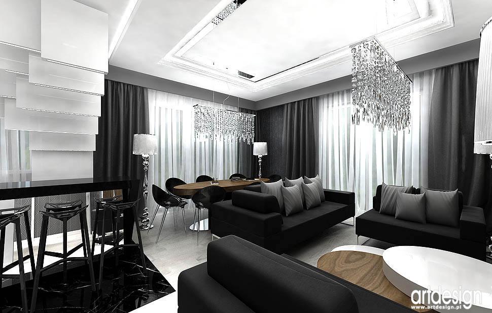 wnetrza mieszkan dobry design krakow jadalnia salon
