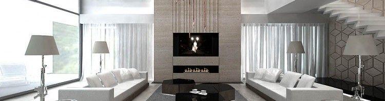 salon z antresola luksusowy dom