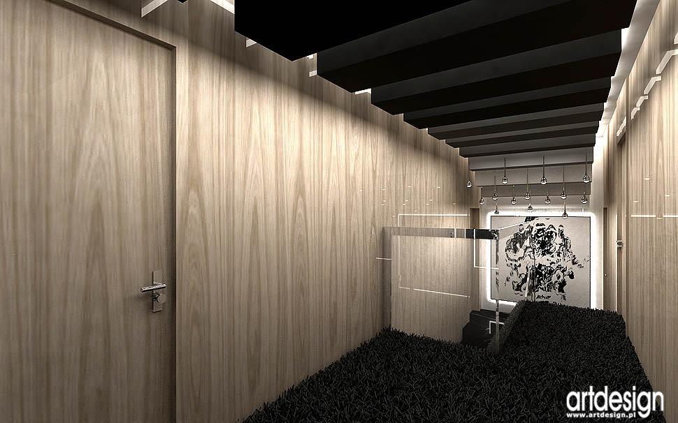 oryginalny design architektura wnetrza korytarz