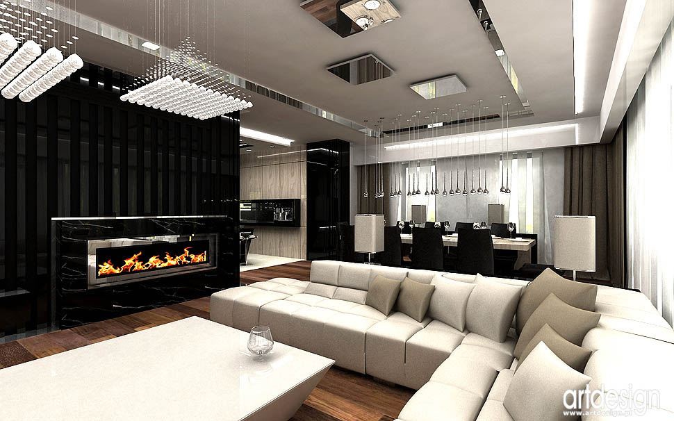 ekskluzywne luksusowe wnetrza domow salonow