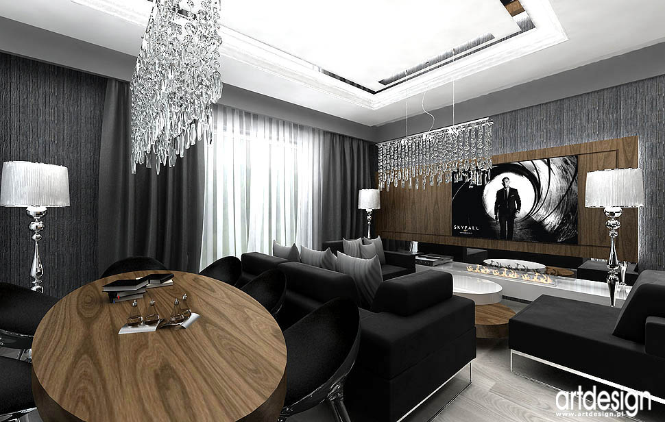 apartament wzorcowy projekty salon pokoj dzienny