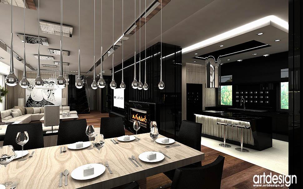 design wnetrza ekskluzywne oryginalne projekty architektura dom jadalnia