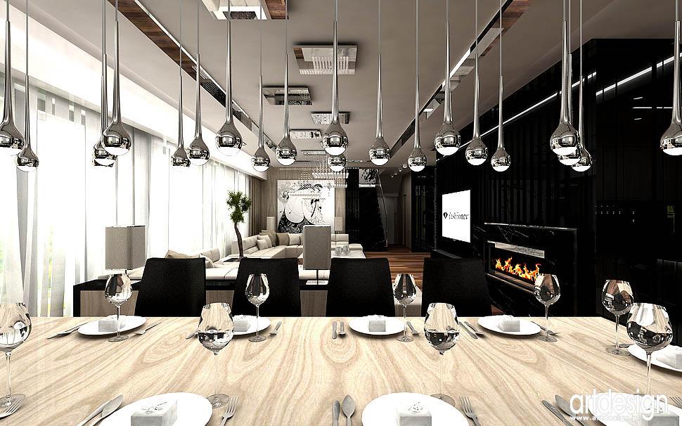 architektura wnetrz ekskluzywnych wnetrz domow apartamentow angel wawel salon z jadalnia