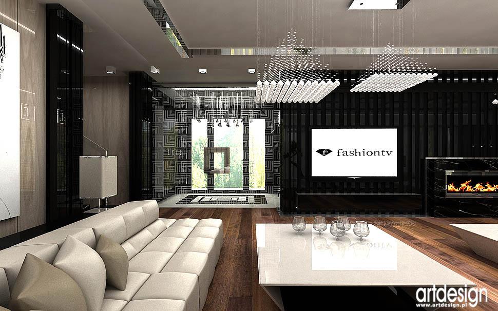 oryginalne wnetrza domow projekty architektura dom salon