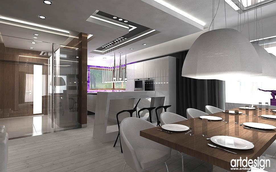 wnetrza domow projektowanie jadalnia kuchnia
