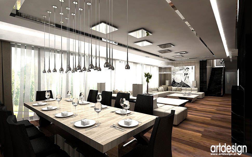 wnetrza najlepsze projekty architektura design salonu i jadalni