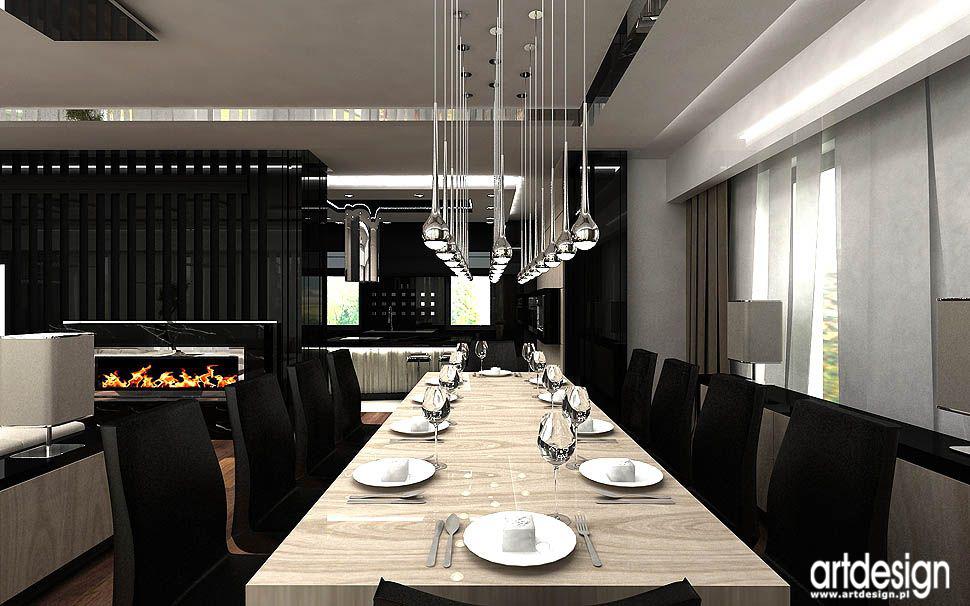 architektura wnetrz domow luksusowych ekskluzywnych domu jadalni