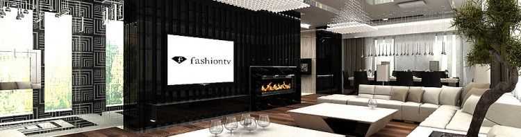 luksusowy dom interior design salon z kominkiem