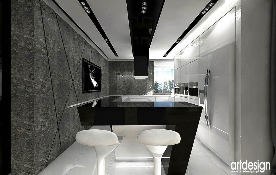 LUXURY DESIGN Salon, jadalnia, kuchnia  Projektowanie   -> Kuchnie Na Poddaszu Aranzacje