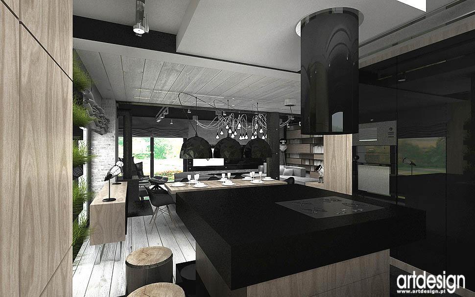 projektowanie wnetrz aranzacja kuchnia z wyspa dom