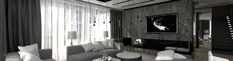 wnetrze nowoczesnego dobrze zaprojektowanego domu salonu