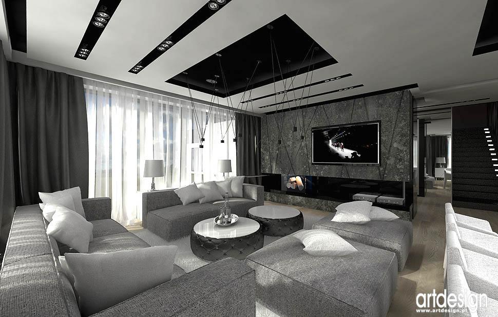 Luxury Design Salon Jadalnia Kuchnia Projektowanie