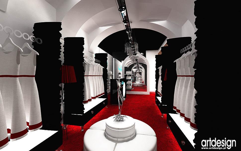 architektura wnetrza odziez sklep butik luksusowa ekskluzywna projekt lousia spagnoli
