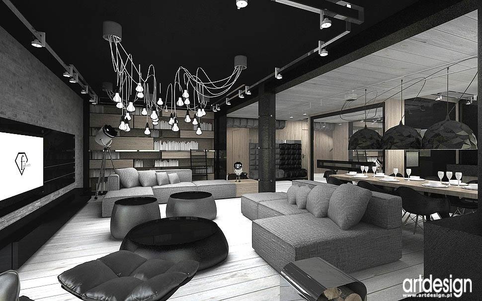 projekty wnetrze najlepsze salon dom pokoj dzienny