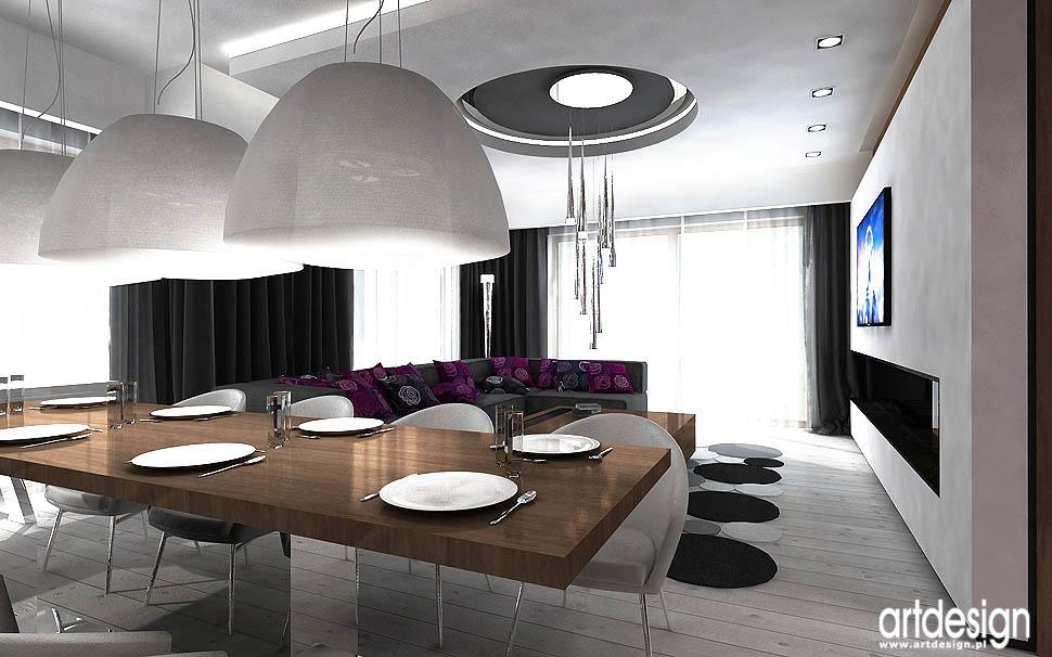 wnetrza domu nowoczesny design jadalnia salon