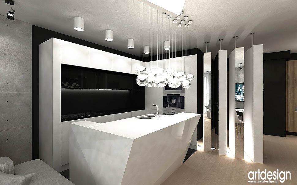 wnetrza nowoczesnego apartamentu kuchnia aneks kuchenny