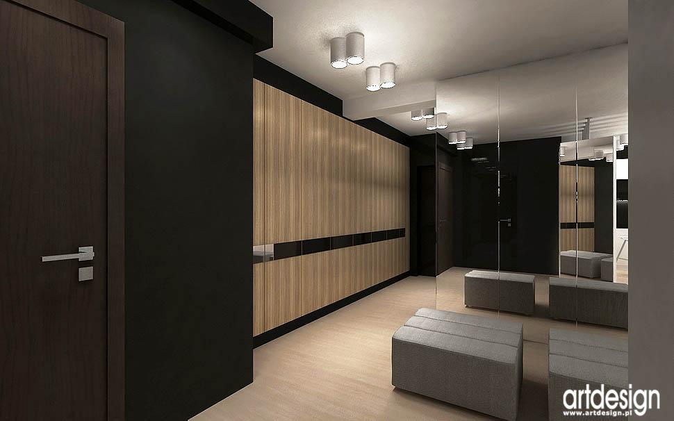 nowoczesne wnetrza mieszkan przepokoj korytarz