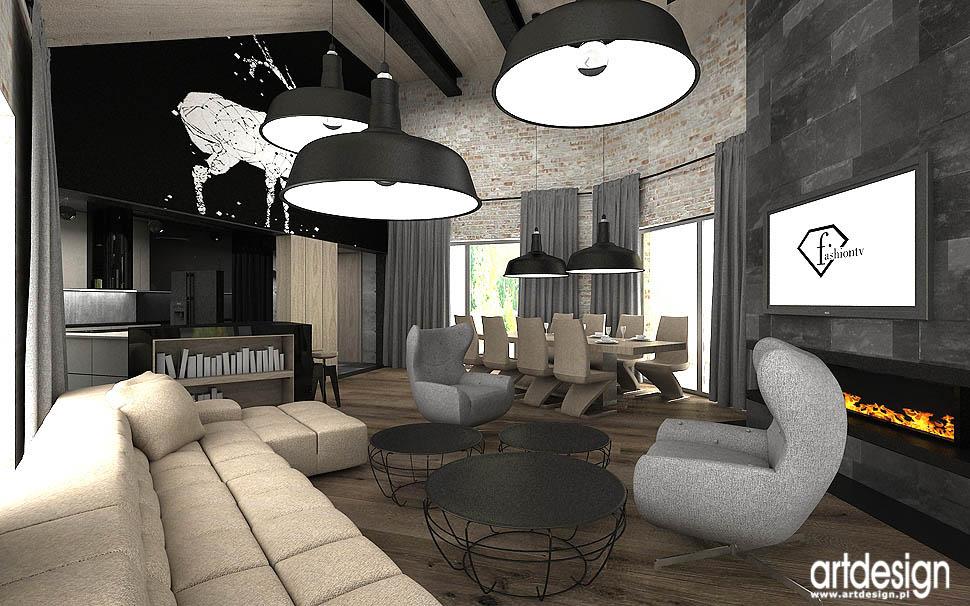architektura wnetrz dom salon