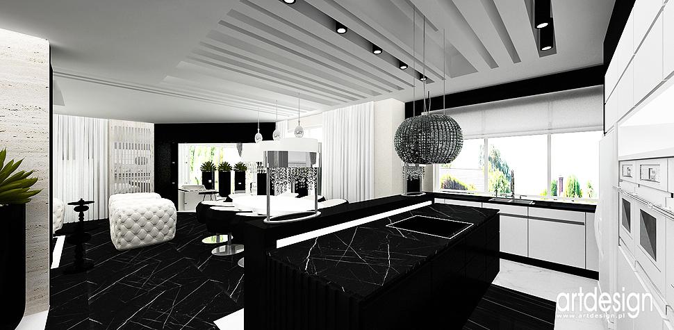 DESIGN ADDICT  Wnętrza domu  Projektowanie wnętrz ARTDESIGN -> Kuchnia Bialo Czarna Galeria