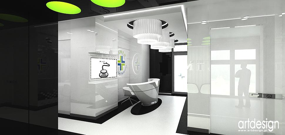 projekty centrum medycznego nowoczesny design wnetrz