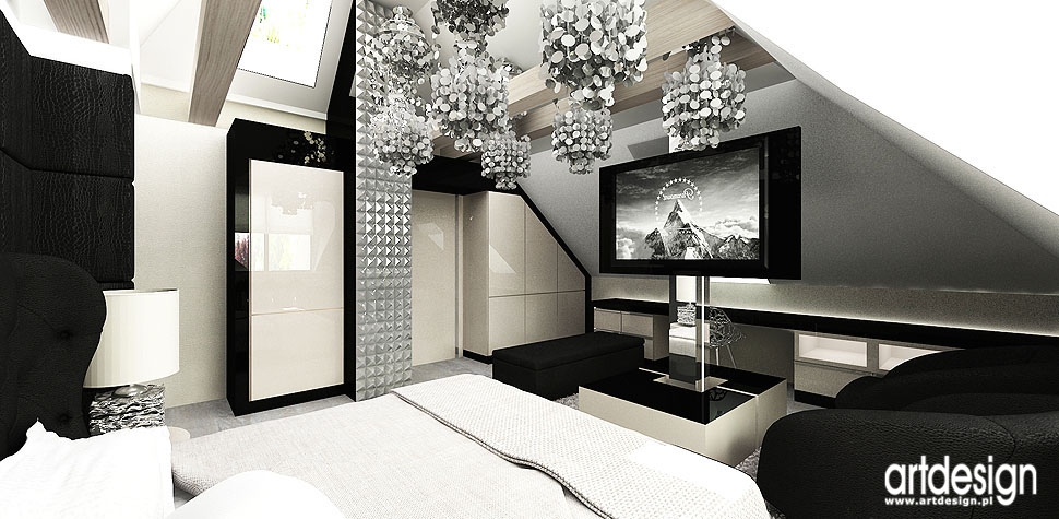architektura wnetrz sypialnia dom
